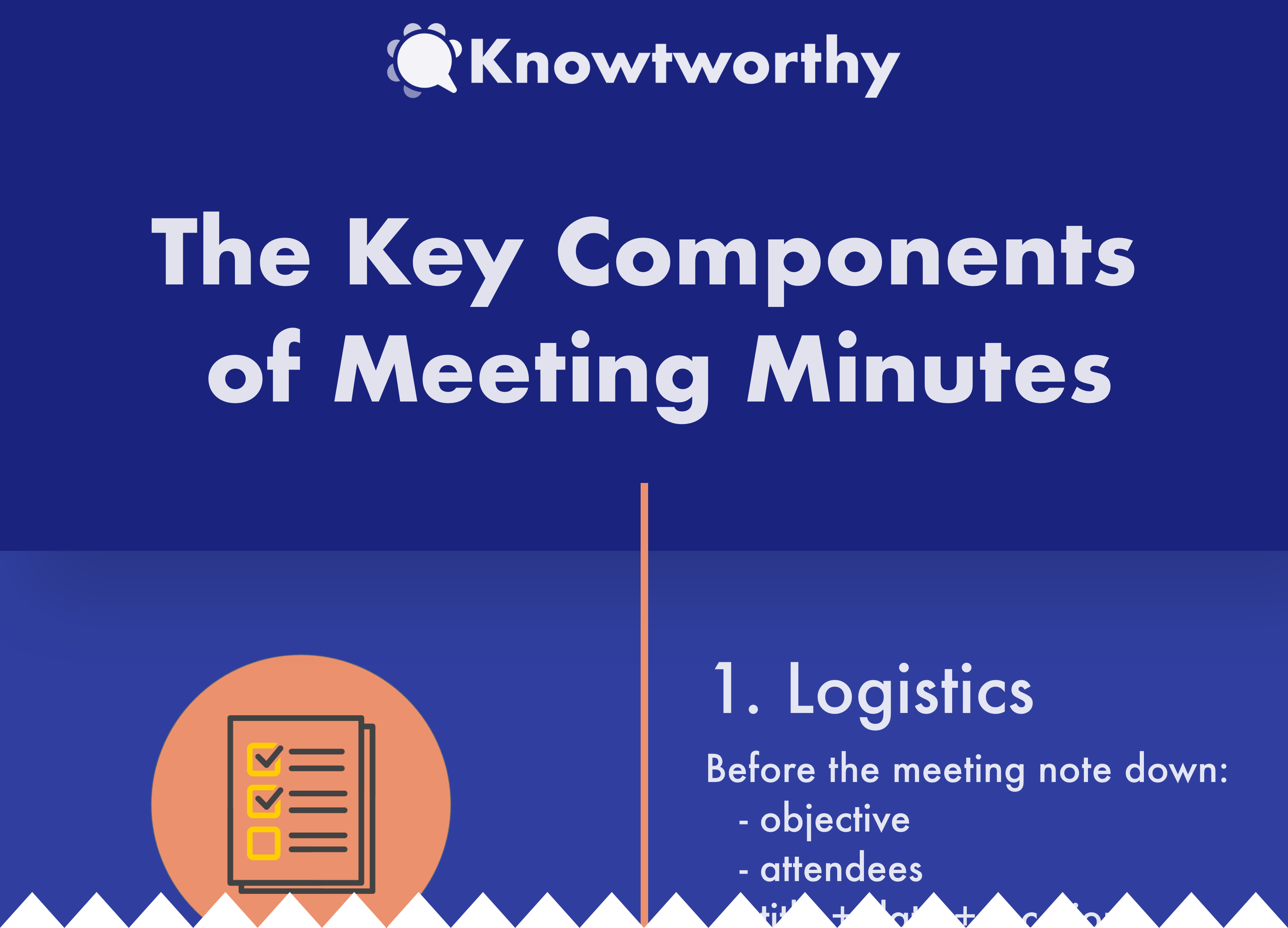 Meeting Minutes Template Infographic