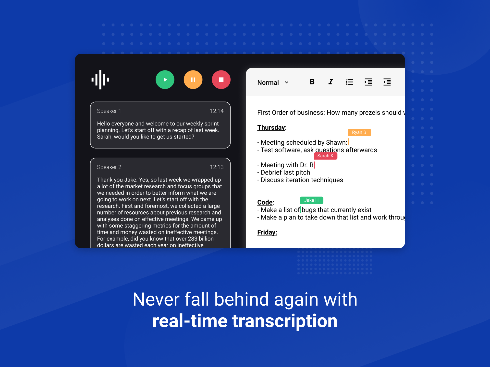Knowtworthy Real-Time Transcription Graphic